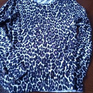 J Crew Animal Print Sweater